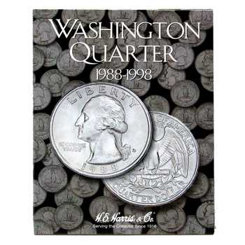 Washington Quarters Folder - 1988 - 1998